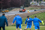 St Johnstone Training…12.05.17<br />The new A85/A9 relief road under construction around the back of McDiarmid Park as the saints players train<br />Picture by Graeme Hart.<br />Copyright Perthshire Picture Agency<br />Tel: 01738 623350  Mobile: 07990 594431
