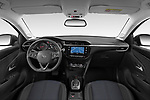 Stock photo of straight dashboard view of a 2020 Opel Corsa Elegance 5 Door Hatchback