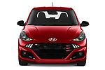 Car photography straight front view of a 2020 Hyundai i10 Sky-Line 5 Door Hatchback Front View