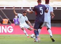 ZAPOPAN, MEXICO - MARCH 21: Jonathan Lewis #7 of the United States shoots the ball during a game between Dominican Republic and USMNT U-23 at Estadio Akron on March 21, 2021 in Zapopan, Mexico.