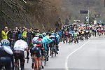 The peleton in action during the 109th edition of Milan-Sanremo 2018 running 294km from Milan to Sanremo, Italy. 17th March 2018.<br /> Picture: LaPresse/Fabio Ferrari | Cyclefile<br /> <br /> <br /> All photos usage must carry mandatory copyright credit (© Cyclefile | LaPresse/Fabio Ferrari)