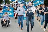 Pete Buttigieg - Supporters at Labor Day Parade - Milford, NH - 2 Sept 2019