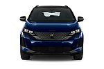 Car photography straight front view of a 2021 Peugeot 3008 GT-Pack 5 Door SUV Front View