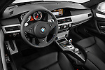 High angle dashboard view of a  2008 BMW M5 Sedan