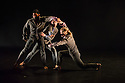 """Rambert Dance Company presents a Season of New Choreography 2012 at the Queen Elizabeth Hall, Southbank, London. Picture shows: """"Heist"""", choreographed by Jonathan Goddard and Gemma Nixon. Dancers are: Jonathan Goddard Gemma Nixon, Eryck Brahmania, Estela Merlos."""