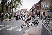 Edoardo Affini (ITA/Jumbo-Visma) pasing the peloton<br /> <br /> 105th Ronde van Vlaanderen 2021 (MEN1.UWT)<br /> <br /> 1 day race from Antwerp to Oudenaarde (BEL/264km) <br /> <br /> ©kramon