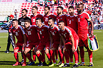 Players of Palestine line up and pose for photos prior to the AFC Asian Cup UAE 2019 Group B match between Palestine (PLE) and Australia (AUS) at Rashid Stadium on 11 January 2019 in Dubai, United Arab Emirates. Photo by Marcio Rodrigo Machado / Power Sport Images