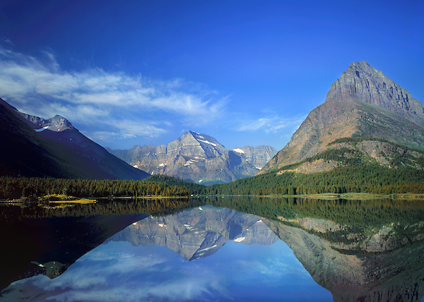 Sweetwater Lake on the eastern slope of Glacier National Park, Kalispell, Monatna, USA. John offers private photo tours in Glacier National Park and throughout Montana and Colorado. Year-round.