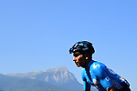 Nairo Quintana (COL) Movistar Team part of the breakaway group climbs during Stage 18 of the 2019 Tour de France running 208km from Embrun to Valloire, France. 25th July 2019.<br /> Picture: ASO/Pauline Ballet | Cyclefile<br /> All photos usage must carry mandatory copyright credit (© Cyclefile | ASO/Pauline Ballet)