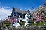 Altes Haus, old house, Eschen, Rheintal, Rhine-valley, Liechtenstein.