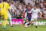 Real Madrid's Mateo Kovacic and FC Barcelona's Sergi Roberto during Supercup of Spain 2nd match at Santiago Bernabeu Stadium in Madrid, Spain August 16, 2017. (ALTERPHOTOS/Borja B.Hojas)