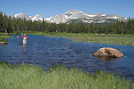 Angler at Indian Peaks Wilderness, just west of Boulder.<br />