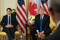 President Trump Meets with the Prime Minister of Canada<br /> <br /> President Donald J. Trump participates in a bilateral meeting with Canadian Prime Minister Justin Trudeau Tuesday, Dec. 3, 2019, at Winfield House in London. (Official White House Photo by Shealah Craighead)