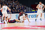 Real Madrid´s player Sergio Llull and Bayern Munich´s player KC Rivers during the 4th match of the Turkish Airlines Euroleague at Barclaycard Center in Madrid, Spain, November 05, 2015. <br /> (ALTERPHOTOS/BorjaB.Hojas)