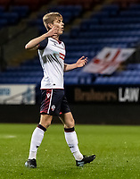Bolton Wanderers' Ronan Darcy rues a near miss <br /> <br /> Photographer Andrew Kearns/CameraSport<br /> <br /> EFL Papa John's Trophy - Northern Section - Group C - Bolton Wanderers v Newcastle United U21 - Tuesday 17th November 2020 - University of Bolton Stadium - Bolton<br />  <br /> World Copyright © 2020 CameraSport. All rights reserved. 43 Linden Ave. Countesthorpe. Leicester. England. LE8 5PG - Tel: +44 (0) 116 277 4147 - admin@camerasport.com - www.camerasport.com