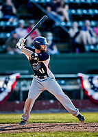 20 June 2021: Westfield Starfires infielder Cam MacIntosh, from Gig Harbor, WA, in action against the Vermont Lake Monsters at Centennial Field in Burlington, Vermont. The Starfires defeated the Vermont Lake Monsters 10-2 at Centennial Field, in Burlington, Vermont. Mandatory Credit: Ed Wolfstein Photo *** RAW (NEF) Image File Available ***