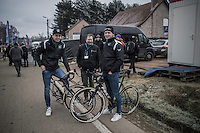 New year = new team & new bikes for Wout Van Aert (BEL/Crelan-Willems) & Tim Merlier (BEL/Crelan-Willems); both relaxed hours before the race<br /> <br /> GP Sven Nys 2017