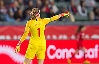 CARSON, CA - FEBRUARY 07: GK Stephanie Labbe #1 of Canada during a game between Canada and Costa Rica at Dignity Health Sports Complex on February 07, 2020 in Carson, California.
