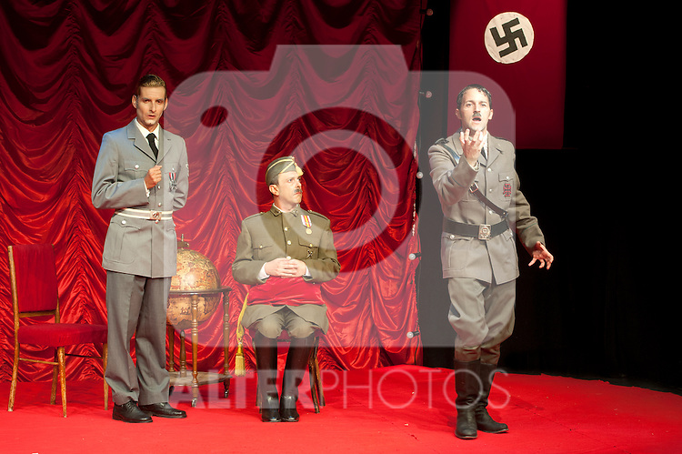 """Hendaya. WHEN ADOLF FOUND PACO """", the legend never told you. In the picture the actor Miguel Angel Jimenez is Hitler, the actor Juan Carlos Mestre is Franco and Luis Yagüe is Ribbentrop. July 18, 2012. (ALTERPHOTOS/Ricky)"""