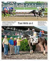 Toni with and I winning at Delaware Park on 6/15/13