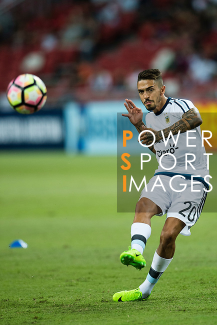 Manuel Lanzini of Argentina warming up during the International Test match between Argentina and Singapore at National Stadium on June 13, 2017 in Singapore. Photo by Marcio Rodrigo Machado / Power Sport Images