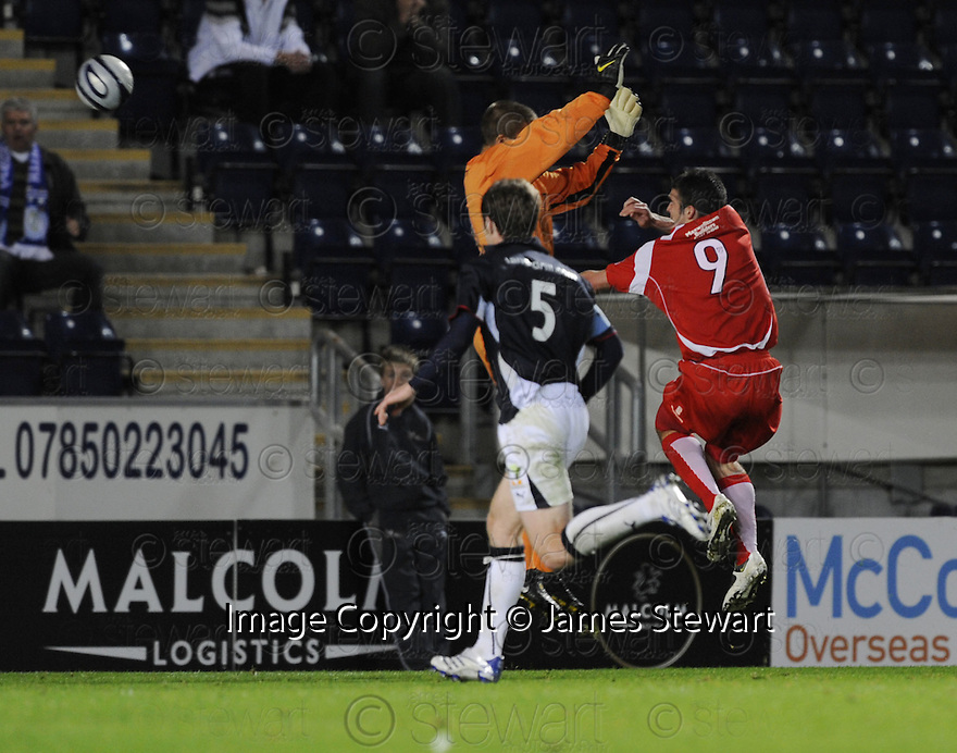 23/09/2008  Copyright Pic: James Stewart.File Name : sct_jspa11_falkirk_v_qots.STEWART KEAN SCORES QUEEN OF THE SOUTH'S GOAL.James Stewart Photo Agency 19 Carronlea Drive, Falkirk. FK2 8DN      Vat Reg No. 607 6932 25.Studio      : +44 (0)1324 611191 .Mobile      : +44 (0)7721 416997.E-mail  :  jim@jspa.co.uk.If you require further information then contact Jim Stewart on any of the numbers above........