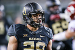 Baylor Bears running back Devin Chafin (28) in action during the game between the Oklahoma Sooners  and the Baylor Bears at the McLane Stadium in Waco, Texas.