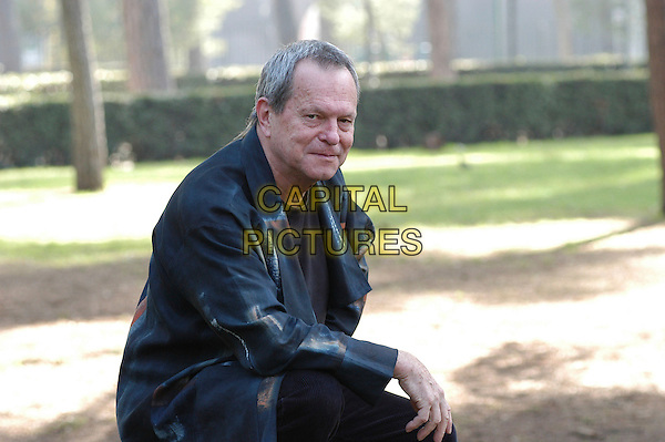 "TERRY GILLIAM.Photocall for the film ""Tideland"", Rome, Italy..October 29th, 2007 .half length black jacket .CAP/CAV.©Luca Cavallari/Capital Pictures."