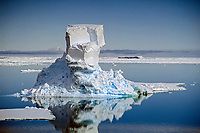 Iceberg floating in the ross sea Antarctica