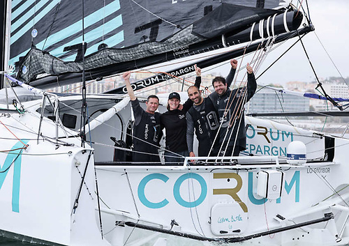CORUM L'Épargne was the first of the IMOCA 60s and the whole fleet to arrive in Cascais