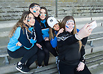 Scariff Community College fans Yolanda Ramirez, Keeva O Donnell, Abbey Cashman, Danielle O Brien and Lauren O Brien take a selfie  before their All-Ireland Colleges final at Toomevara. Photograph by John Kelly.