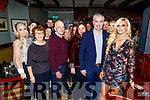 Marian O'Sullivan and George Savage from Tralee standing front right, celebrating their engagement in the Munster Bar on Sunday night.