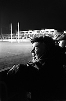 Pix:Michael Steele/SWpix...Wheldon Road. Rugby League. From the book 'When Push Comes to Shove'....COPYRIGHT PICTURE>>SIMON WILKINSON..Old man at Wheldon Road.