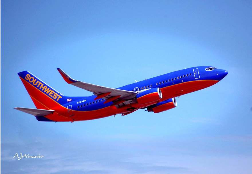 SOUTHWEST AIR LINES over Phoenix, AZ<br /> Photog AJ Alexander