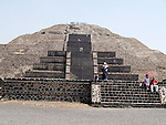 The Pyramid of the Moon is the second largest pyramid in Teotihuacan, Mexico after the Pyramid of the Sun. It is located in the western part of Teotihuacan and mimics the contours of the mountain Cerro Gordo, just north of the site. <br /> (UNESCO)