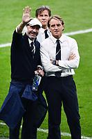 11th July 2021; Wembley Stadium, London, England; 2020 European Football Championships Final England versus Italy; Gianluca Vialli and Roberto Mancini with Gabriele Oriali