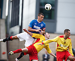 Lee McCulloch wins a corner kick