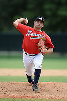 Atlanta Braves pitcher Carlos Salazar (70) during an Instructional League game against the Houston Astros on September 22, 2014 at the ESPN Wide World of Sports Complex in Kissimmee, Florida.  (Mike Janes/Four Seam Images)