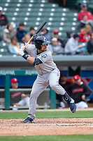 Columbus Clippers catcher Tim Federowicz (40) during an International League game against the Indianapolis Indians on April 30, 2019 at Victory Field in Indianapolis, Indiana. Columbus defeated Indianapolis 7-6. (Zachary Lucy/Four Seam Images)