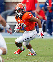 Virginia Cavaliers wide receiver Dominique Terrell (2) runs with the ball during the second half of an NCAA football game against the Richmond Spiders Saturday September, 1, 2012 at Scott Stadium in Charlottesville, Va. Virginia defeated Richmond 43-19.