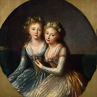 Portrait of the Daughters of Emperor Paul I<br /> Artist:Vigée-Lebrun, Marie Louise Elisabeth(1755-1842)<br /> Museum:State Hermitage, St. Petersburg<br /> Method:Oil on canvas<br /> Created:1796<br /> School:France<br /> Trend in art:Rococo