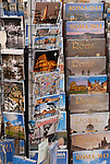 Postcards for sale in the Trastevere district of Rome.