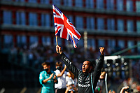 HAMILTON Lewis (gbr), Mercedes AMG F1 GP W12 E Performance, portrait celebrating his victory during the Formula 1 Pirelli British Grand Prix 2021, 10th round of the 2021 FIA Formula One World Championship from July 16 to 18, 2021 on the Silverstone Circuit, in Silverstone, United Kingdom - <br /> Formula 1 GP Great Britain Silverstone 18/07/2021<br /> Photo DPPI/Panoramic/Insidefoto <br /> ITALY ONLY