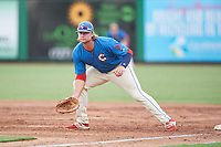 Clearwater Threshers first baseman Kyle Martin (54) during a game against the St. Lucie Mets on August 11, 2018 at Spectrum Field in Clearwater, Florida.  St. Lucie defeated Clearwater 11-0.  (Mike Janes/Four Seam Images)