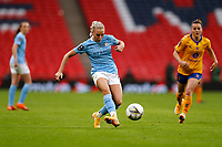 1st November 2020; Wembley Stadium, London, England; Womens FA Cup Final Football, Everton Womens versus Manchester City Womens; Alex Greenwood of Manchester City Women passing the ball into midfield