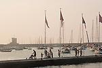 harbor, Mariana Marina, Italian coastal town, sunset, Elba; Tuscan Archipelago, Italy, Elba; Province of Livorno; Italy, Mediterranean Sea;