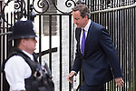 © Joel Goodman - 07973 332324 . 11/05/2015 . London , UK . The British Prime Minister , DAVID CAMERON , returns to 10 Downing Street from Parliament this afternoon (11th May 2015) . Photo credit : Joel Goodman