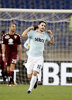 Calcio, Serie A: Roma, stadio Olimpico, 11 dicembre 2017.<br /> Lazio's Luis Alberto Romero celebrates after scoring during the Italian Serie A football match between Lazio and Torino at Rome's Olympic stadium, December 11, 2017.<br /> UPDATE IMAGES PRESS/Isabella Bonotto
