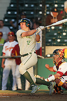 Shawn Peterson #12 of the Oregon Ducks bats against the USC Trojans at Dedeaux Field in Los Angeles,California on April 15, 2011. Photo by Larry Goren/Four Seam Images