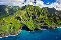 Na Pali Coast, Kauai, Hawaii, USA, Pacific Ocean